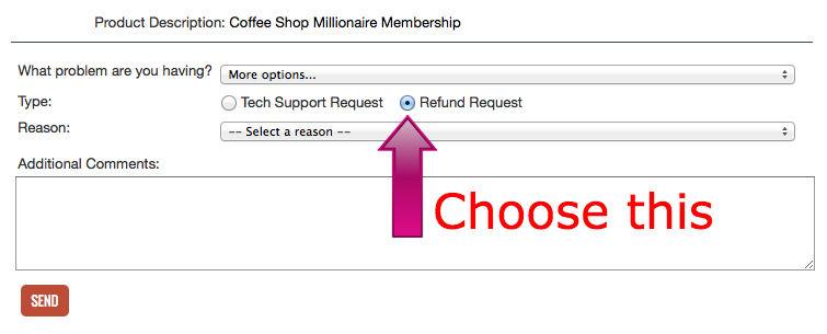 Coffee Shop Millionaire Refund