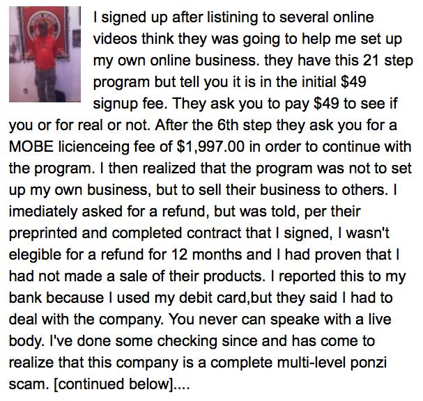 MTTB scam report