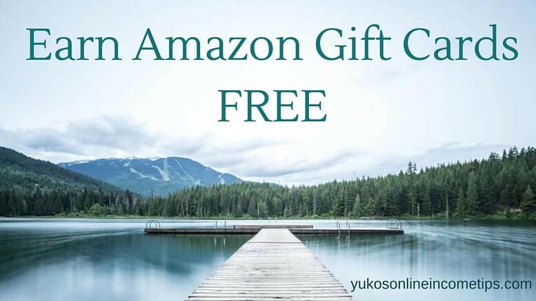earn amazon gift cards free