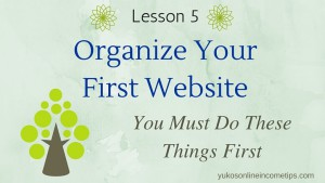 how to organize a website