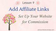 add affiliate links to wordpress