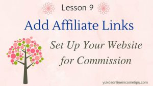 add affiliate links to wordpress sites